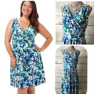 Lands' End:Banded Waist Fit and Flare Dress